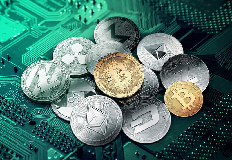 Different types of cryptocurrencies being shown