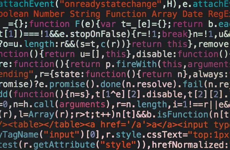 Picture of smart contract code on a computer